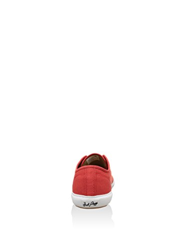 Fred Perry Vintage tennis Canvas Red Mens Trainers - B4249-382