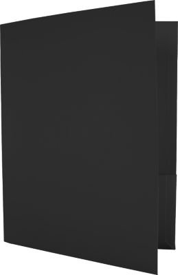 Capacity Folders (9 1/2 x 12) - Black Linen (50 Qty.) by LUXPaper (Image #1)