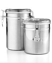 Tools of the Trade Stainless Steel 2 Piece Canister Set