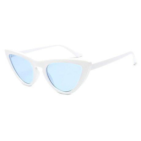 Female Red GGSSYY Uv400 Frame Blue Eye Triangle sol sol Protection Uv400 de Frame Mujer de Gafas Multi White Gafas 0O0qzrw