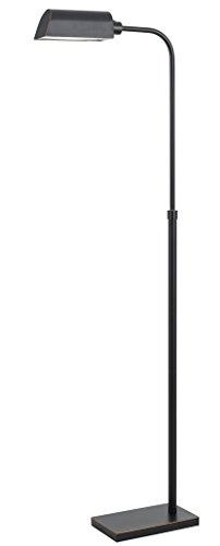 Modern Bronze Adjustable LED Reading Task Pharmacy Floor Lamp 46-62H
