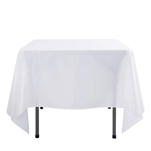 E-TEX 70 x 70-Inch Square Tablecloth, 100% Polyester Washabl