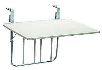 Balkon Klapptisch Für Geländer.Videx 16001 Balkonklapptisch 60x80cm Weiß