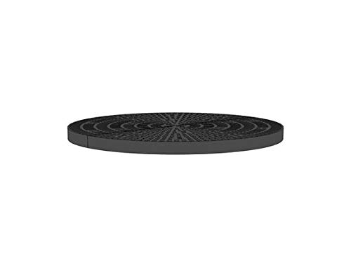 48 Inch x 48 Inch Circle Heavy Duty Fountain Basin Grate - (2) 24 Inch x 48 Inch Half Circle Reservoir Grates - for Pond and Water Garden Features and More - Will Not Rust - Black
