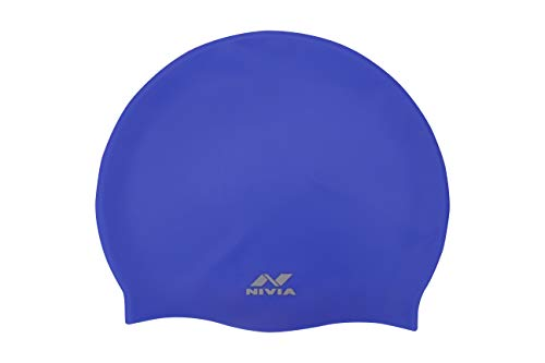 Nivia Classic Silicone Adult Swimming Cap (Royal Blue) Price & Reviews