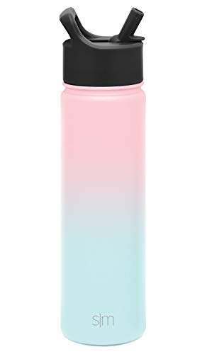 Simple Modern Water Bottle Summit with Straw, 22 Ounce, Ombre: Sweet Taffy