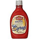 Gefen Raspberry Natural Flavor Premium Syrup KFP 20 Oz. Pack Of 6.