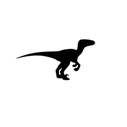 "Velociraptor Sticker 6/"" Dinosaur"