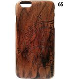 Handcrafted wooden 100% Iphone6s wood Case Laser Engraving Compass,wood Case for Iphone6s,iphone6s Cases,case Iphone6s,natural wood Design Hard Back Skin Cover Shell for Iphone6s (Mercedes Iphone6 Case)