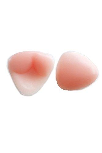 Sujetador push-up de mujeres palo del uno mismo vestido Backless cubre (2 pares) Pink D