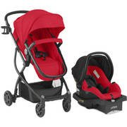 Urbini Omni Plus Travel System with Sonti Infant Car Seat , red