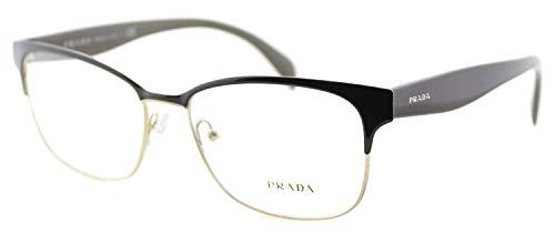 Prada PR65RV Eyeglass Frames DHO1O1-55 - Brown On Pale Gold ()
