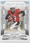 Nate Davis #552/999 (Football Card) 2009 Playoff Prestige - [Base] - Draft Picks Light Blue #181