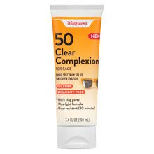 Walgreens Clear Face SPF50 Lotion 1 pack