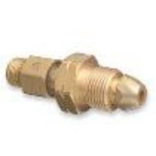 "Western Enterprises 320 Brass Cylinder Adaptors, From CGA-510 POL Acetylene to CGA-200""MC"" Acetylene"
