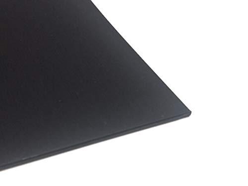 Plastique plaque ABS 2mm Noir 1000 x 500 mm plaque