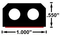 ESI Front Rail Seal 6ft EPDM Rubber