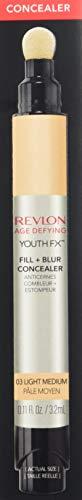 Revlon Youth Fx Fill + Blur Concealer,03  Light Medium, 0.11 Fluid Ounce