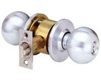 Arrow Lockset (Arrow Lock MK Series Satin Chrome Plated Entrance/Office Interchangeable Core Cylindrical Lockset with Tudor TA Knob (Pack of 1))