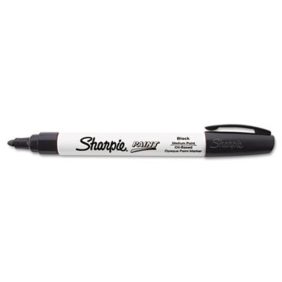 Sharpie Oil-Based Paint Marker, Medium Point, Black, 1 Count - Great for Rock Painting - Sharpie Permanent Oil Based Paint
