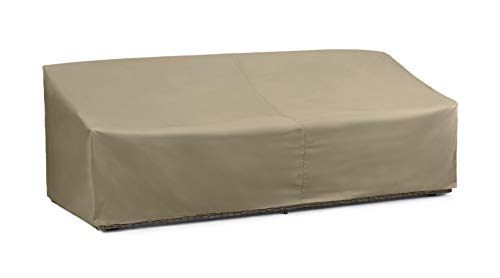 SunPatio Outdoor Oversized Sofa Cover, Lightweight, Water Resistant, Helpful Air Vents, All Weather Protection, 93.5