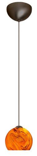 Mini Bronze Habanero Pendant - Palla 1 Light Mini Pendant Finish: Bronze, Glass Shade: Habanero