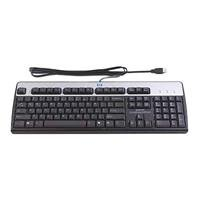 HP Standard Keyboard Wired USB Carbonite (Canadian French) Black/Silver DT528AT#ABC
