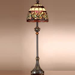 "Dale Tiffany TB101109 Aldridge Buffet Lamp, 9"" x 9"" x 30"", Antique Bronze"