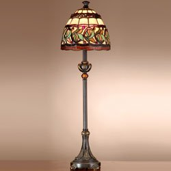 Dale Tiffany TB101109 Aldridge Buffet Lamp, Antique Bronze - Antique Tiffany Floor Lamp