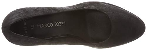 Tacco 22456 Con Donna Nero 033 21 033 Metallic Tozzi Marco black Scarpe 2 2 A8wS1q1F
