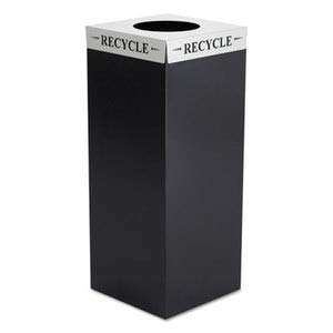 - Safco Square-Fecta Lid, Recycle, Silver