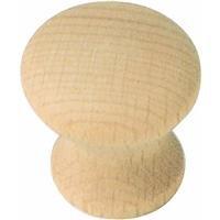Laurey 33301 Au Natural Wood Mushroom 1-1/4-Inch Diameter (Laurey Wood Knobs)