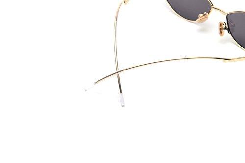 FEISEDY Fashion Designer Sunglasses Retro Small Petals Shape Arc Temple Design B2298 by FEISEDY (Image #4)