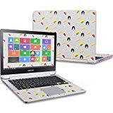 """MightySkins Protective Vinyl Skin Decal for Samsung Notebook 7 Spin 13.3"""" (2016) wrap Cover Sticker Skins White Marble"""