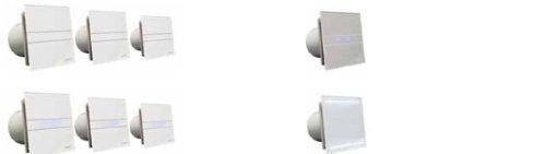 Ventilator L/üfter CATA E-150 GT B Timer Nachlauf 150 mm Glasfront 350 m3//St sehr leise energiesparend Kugellager EU Markenqualit/ät seit 1947