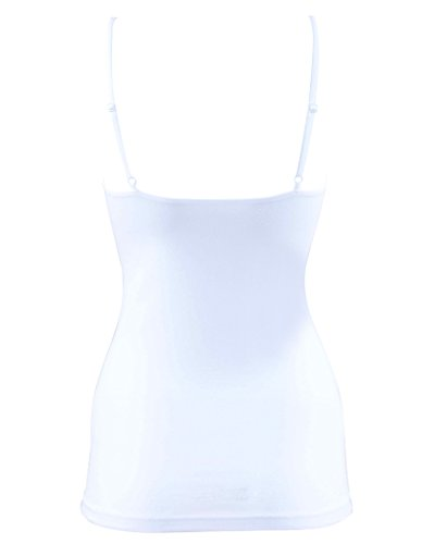 BlackSpade Essential White Cotton Spaghetti Strap Singlet Vest Top 1951