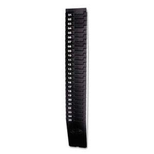 Lathem Time Expandable Time Card Rack, 25-Pocket, Black Plastic by Lathem