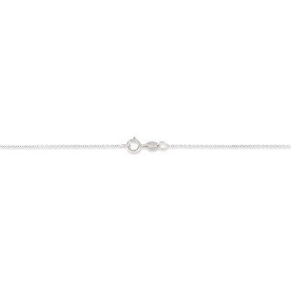 HISTOIRE D'OR - Collier Or et Saphir - Femme - Or blanc 375/1000 - Taille Unique