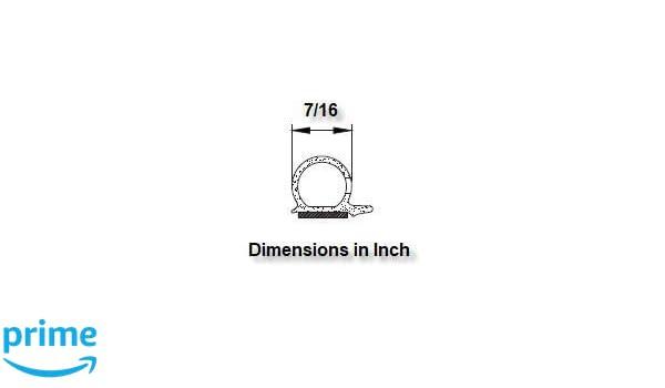 8,4 mm de altura x 13,9 mm de ancho, autoadhesiva color negro M M Seal A072 Junta para puerta
