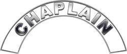 Chaplain White Firefighter Fire Helmet Arcs / Rocker Decals Reflective
