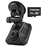 AzDome Dash Cam with Built-in GPS and FREE 16GB Micro SD Card, Ambarella A12 Chip 2560x1440P Full HD Car DVR Camera Video Recorder 2.31 inch Screen HDR and ADAS Technology High Resolution Wide Angle