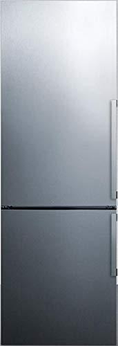 Summit FFBF247SSIMLHD 24 Inch Counter Depth Bottom Freezer Refrigerator in Stainless Steel