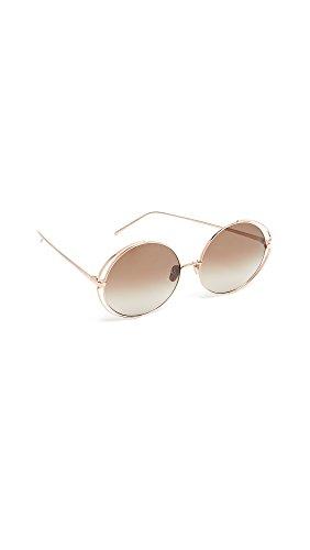 e0752cde917a Linda Farrow Luxe Women s Double Frame Round Sunglasses
