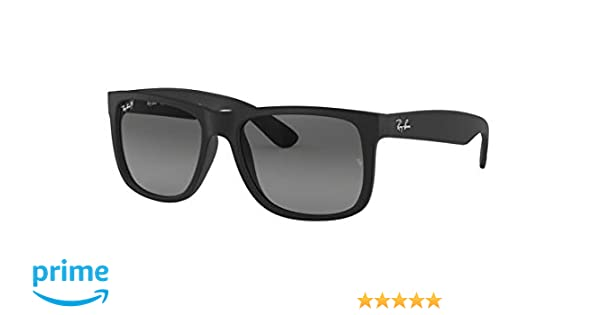 de593779f3 Amazon.com  Ray Ban RB4165 Justin 622 T3 Rubber Black Polarized ...