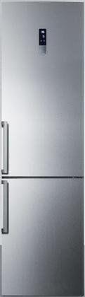 Summit FFBF191SSIM 24″ Energy Star Bottom Freezer Refrigerator with 13.3 cu. ft. Capacity Frost-Free Operation and Digital Controls in Stainless Steel with Ice