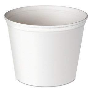 Dart Double Wrapped Paper Bucket, Unwaxed, White, 83Oz, 100/Carton