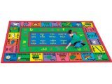 Joy Carpets Kid Essentials Language & Literacy French LenguaLink Rug, Multicolored, 7'8'' x 10'9''