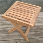 Royal Teak Folding Footstool