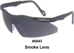 Jackson 3011674 KC 19823 Magnum Safety Glasses Black Frame Smoke Lens