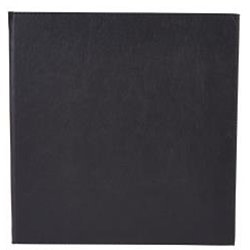Winco LMS-811BK, Black Leather-Like Booklet Single View Menu Cover for 8.5x11-Inch Inserts